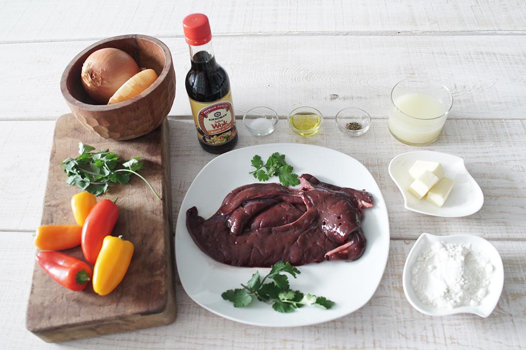 Asado de h gado de ternera con kikkoman salsa wok y for Cocinar higado de ternera