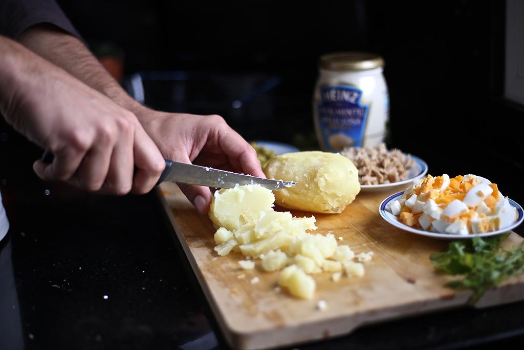 Bow Tie Blue Receta Ensaldilla Rusa con Mayonesa Heinz Realmente Deliciosa_10