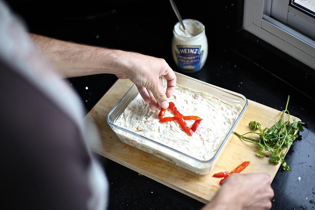 Bow Tie Blue Receta Ensaldilla Rusa con Mayonesa Heinz Realmente Deliciosa_17