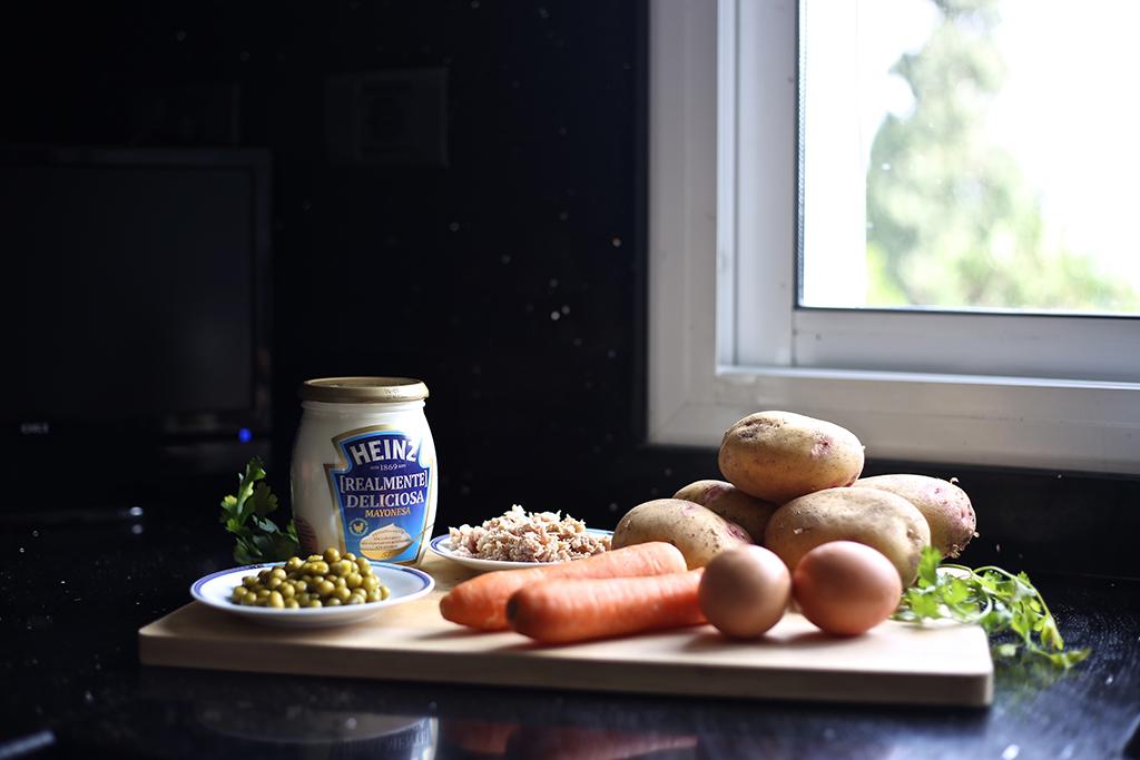 Bow Tie Blue Receta Ensaldilla Rusa con Mayonesa Heinz Realmente Deliciosa_2