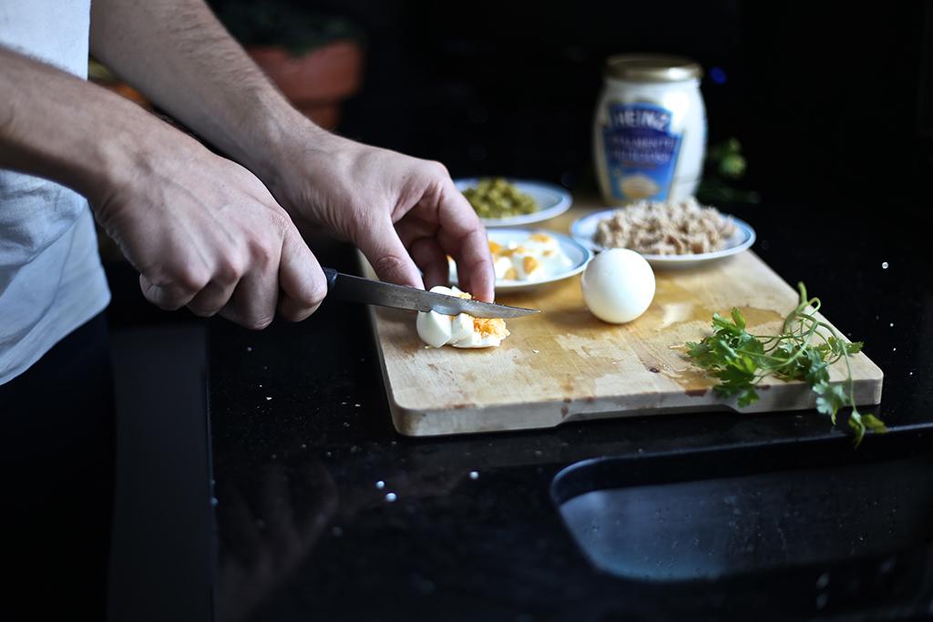 Bow Tie Blue Receta Ensaldilla Rusa con Mayonesa Heinz Realmente Deliciosa_6